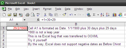 OOXML Date Bug