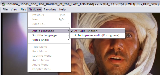 Selecting audio track to play in Media Player Classic