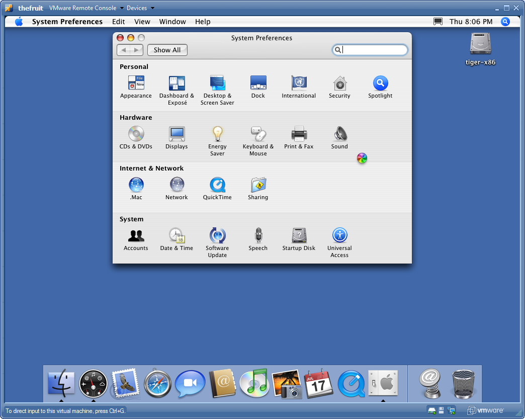 Mac OS X as a Virtual Machine